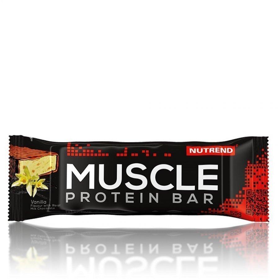Nutrend Muscle Protein Bar 24x55 G Bars Vanilja