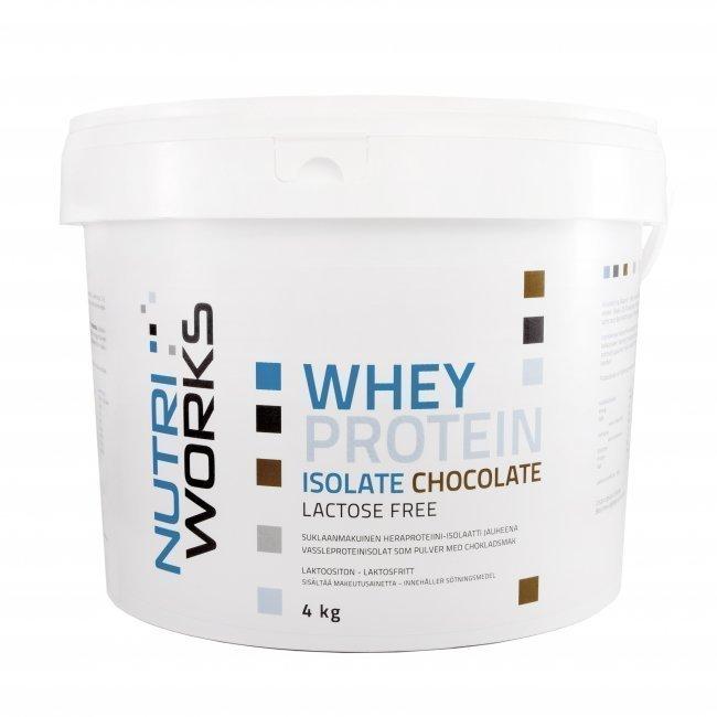 Nutri Works Whey Protein Isolate (laktoositon) 4kg