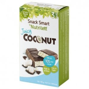 Nutrilett Juicy Coconut Kookospatukka 3 X 30 G