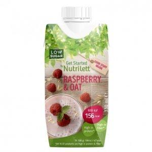 Nutrilett Raspberry & Oat Vlcd Ateriankorvikejuoma 330 Ml
