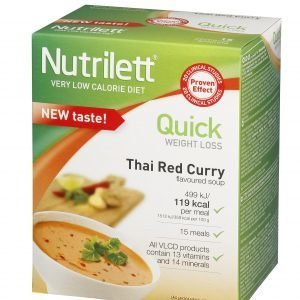 Nutrilett Vlcd Thai Red Curry Pussikeitto 15 X 33 G