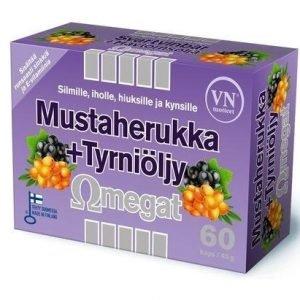 Omegat Mustaherukka + Tyrniöljy
