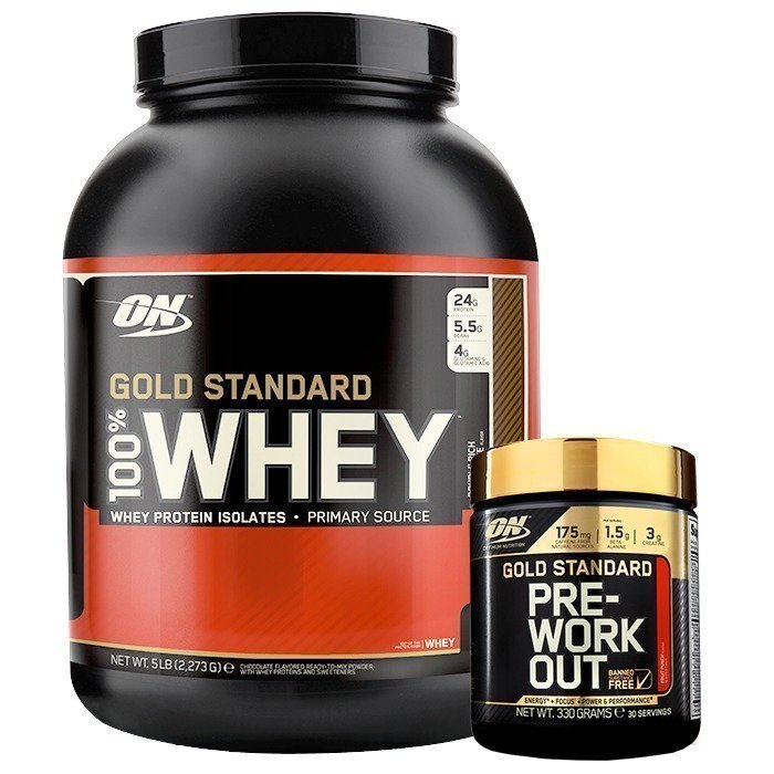 Optimum Nutrition 100% Whey Gold Standard 2273 g + Gold Standard PWO