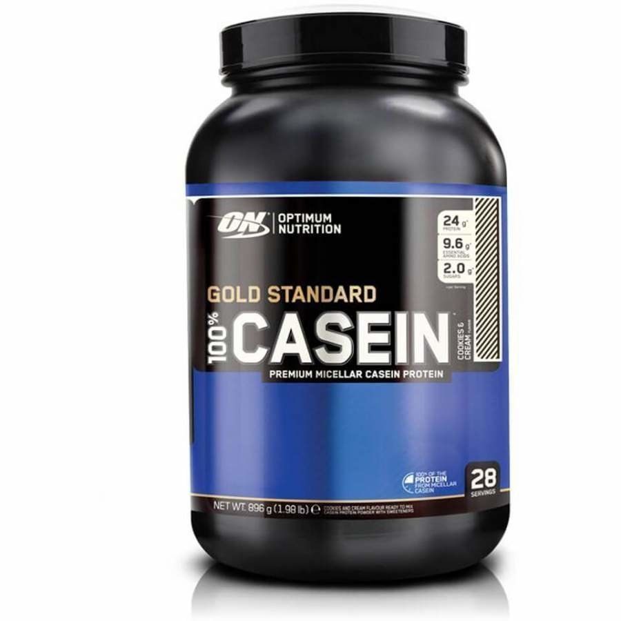 Optimum Nutrition Gold Standard 100 % Casein 908 G Tuubi Cookies Ja Cream