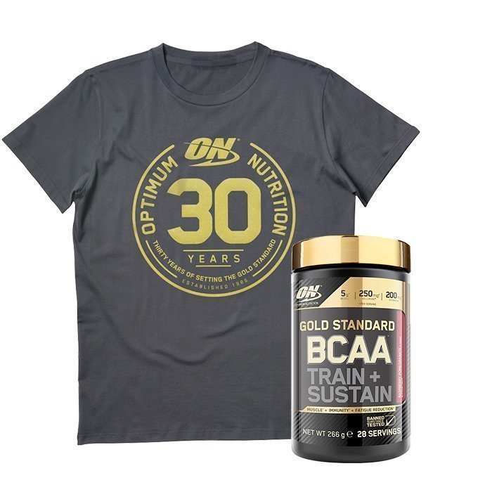 Optimum Nutrition Gold Standard BCAA 28 servings + Anniversary T-shirt