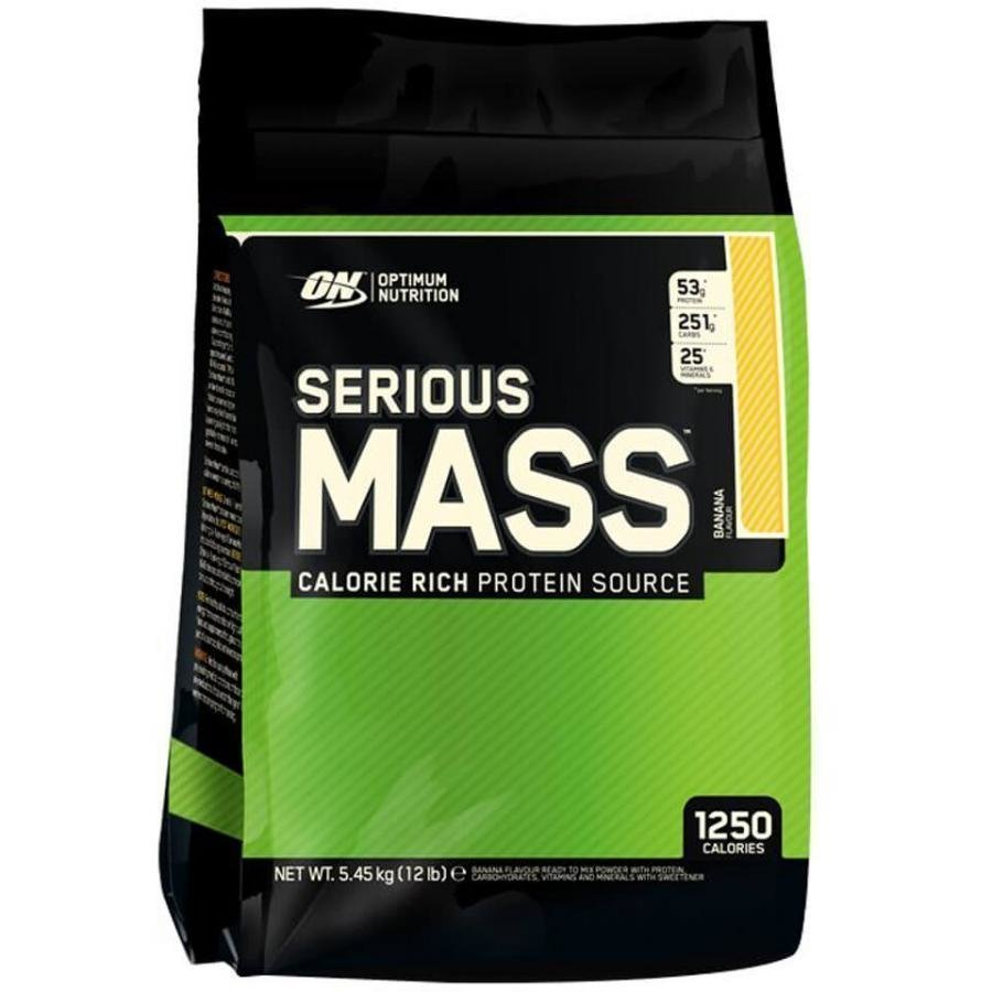 Optimum Nutrition Serious Mass 5450 G Pussi Mansikka