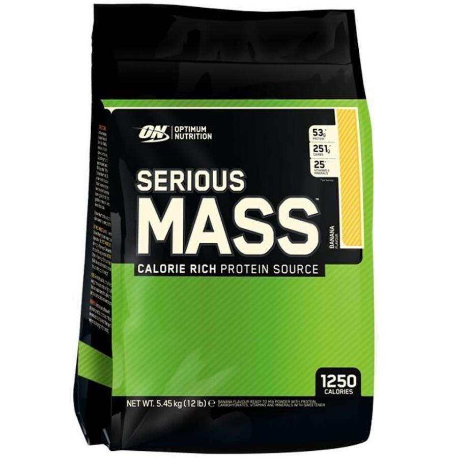 Optimum Nutrition Serious Mass 5450 G Pussi Mansikka