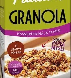 Pauluns Granola Hasselpähkinä & Taateli