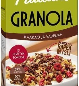 Pauluns Granola Kaakao & Vadelma
