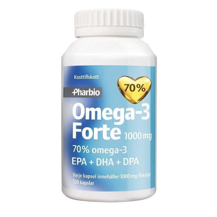 Pharbio Omega-3 Forte 1000mg 120 kpl