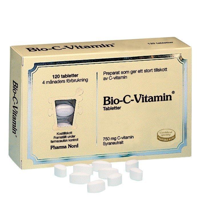 Pharma Nord Bio-C-Vitamin 750 mg. Happoneutraali 120 kpl