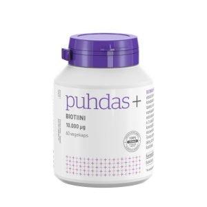 Puhdas+ Biotiini 10.000 Μg 60 Vegekaps 60 Kaps