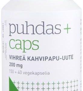 Puhdas+ Caps Vihreä Kahvipapu-Uute Kampanjapakkaus 150+40 Kaps