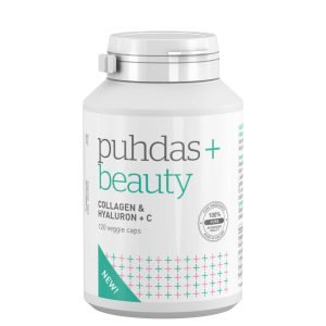 Puhdas+ Collagen & Hyaluron + C 120 Vegekaps