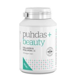Puhdas+ Collagen & Hyaluron + C 120 Vegekaps