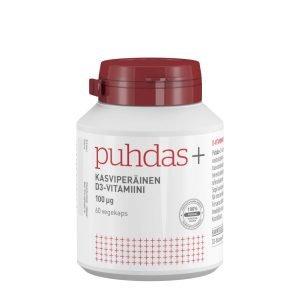 Puhdas+ Kasviperäinen D3 Vitamiini 100 Μg 60 Kaps