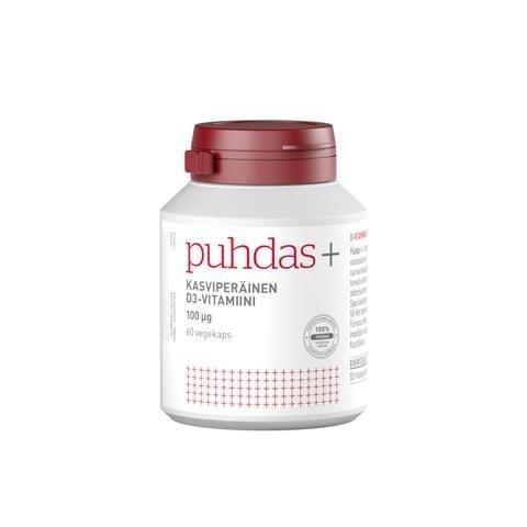 Puhdas+ Kasviperäinen D3-Vitamiini 100 Mikrog