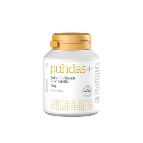 Puhdas+ Kasviperäinen D3-Vitamiini 20 Mikrog
