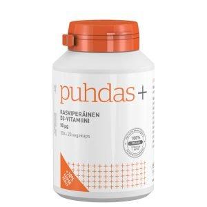 Puhdas+ Kasviperäinen D3 Vitamiini 50 Μg 120 Kaps