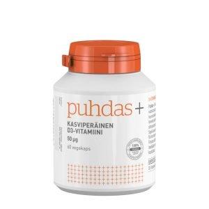 Puhdas+ Kasviperäinen D3 Vitamiini 50 Μg 60 Kaps