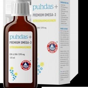 Puhdas+ Premium Omega 3 1500 Mg 125 Ml