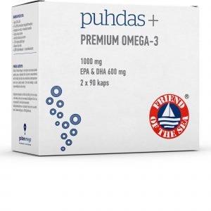 Puhdas+ Premium Omega 3 180 Kaps