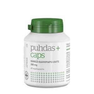 Puhdas+ Vihreä Kahvipapu Uute 200 Mg 60 Kaps