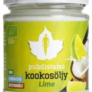 Puhdistamo Luomu Neitsytkookosöljy Lime