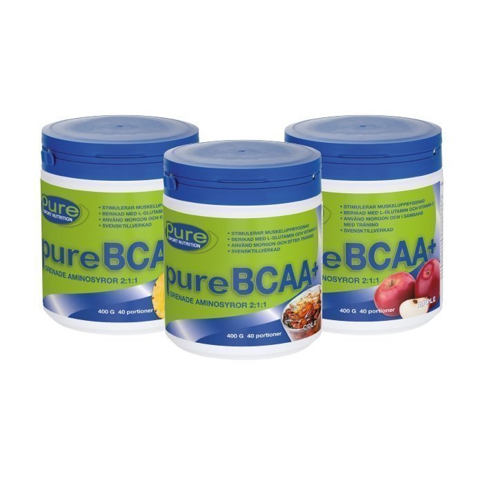Pure Sport Nutrition 3 x Pure BCAA+ 400 g