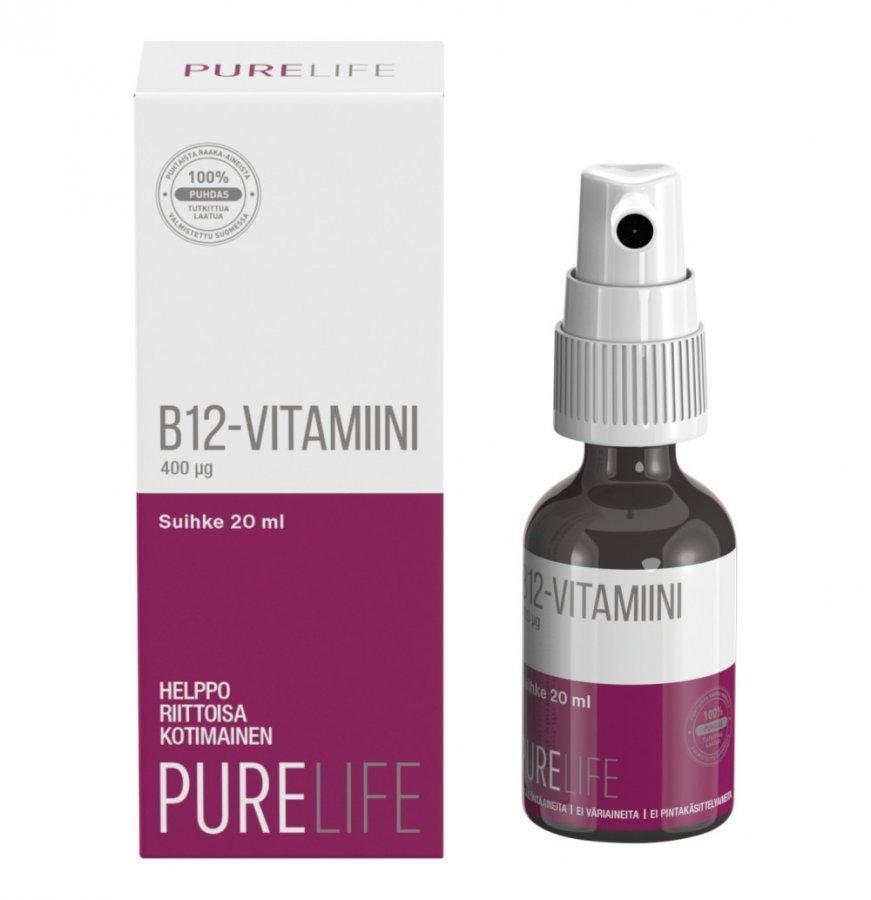 Purelife B12-Vitamiinisuihke 20 Ml