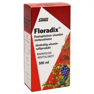 Salus Floradix Rautapitoinen Mehuvalmist 500ml