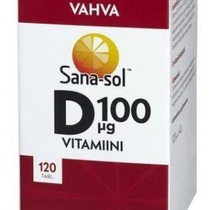 Sana-Sol Helposti Nieltävä D-Vitamiini 100 Mikrog