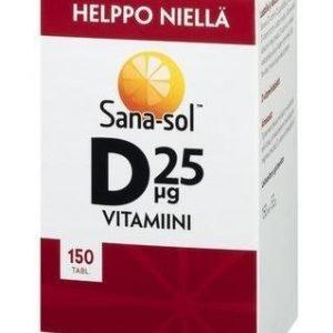 Sana-Sol Helposti Nieltävä D-Vitamiini 25 Mikrog