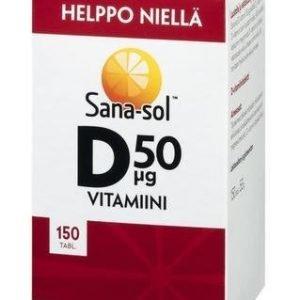Sana-Sol Helposti Nieltävä D-Vitamiini 50 Mikrog
