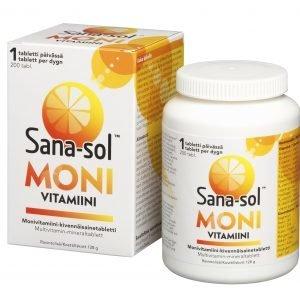 Sana-Sol Monivitamiinivalmiste 200 Tablettia