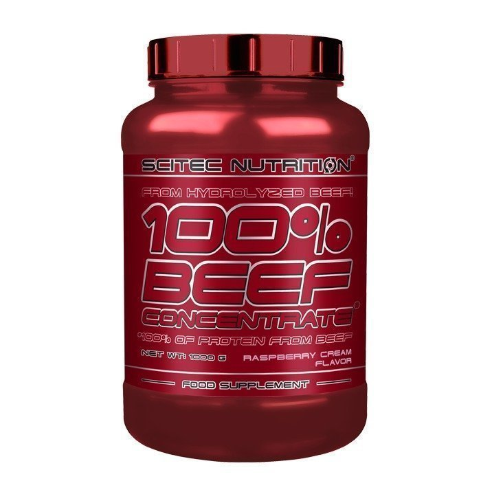 Scitec 100% Beef Concentrate 1000 g Raspberry Cream
