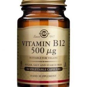 Solgar B12-Vitamiini 500 Mikrog