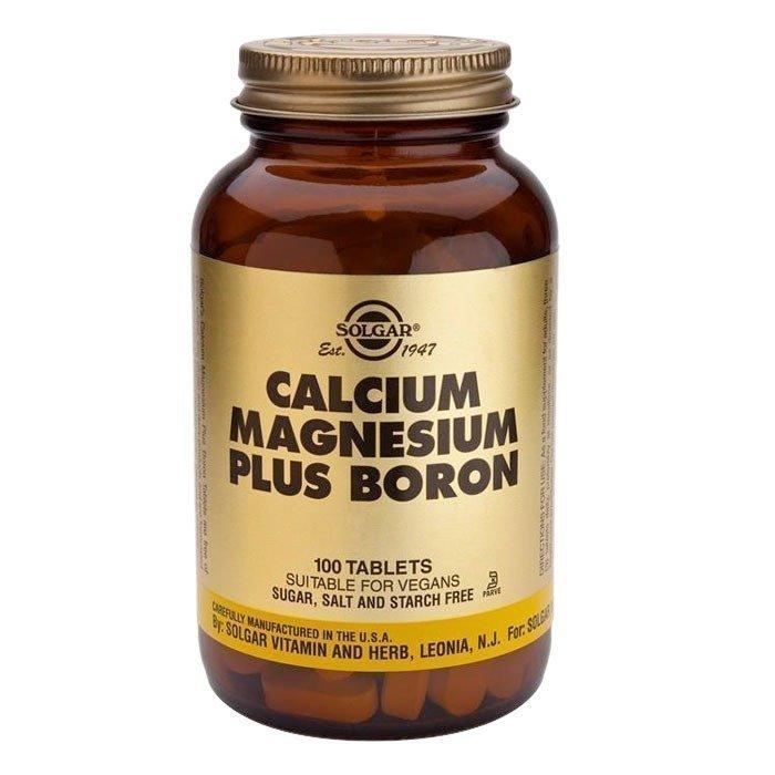 Solgar Calcium Magnesium + Boron 100 tablettia