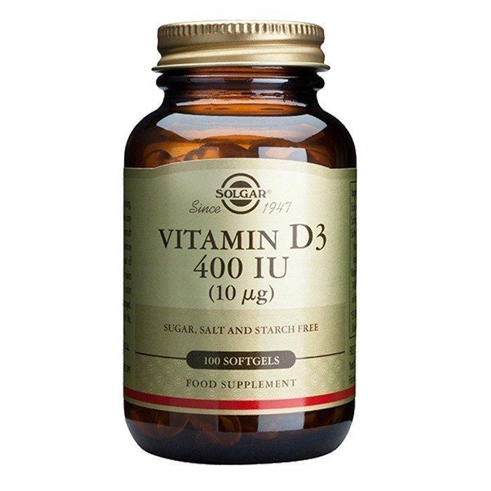 Solgar D-Vitamiini 400 IU 100 kapselia