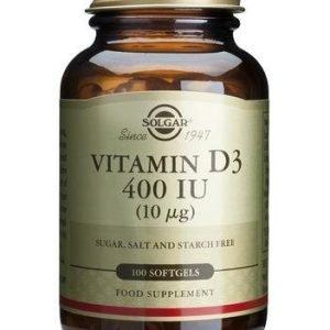 Solgar D3-Vitamiini 10 Mikrog