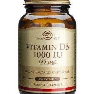 Solgar D3-Vitamiini 25 Mikrog