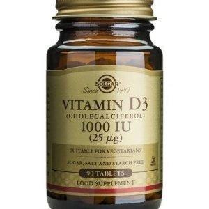 Solgar D3-Vitamiini 25 Mikrog Kasvissyöjille