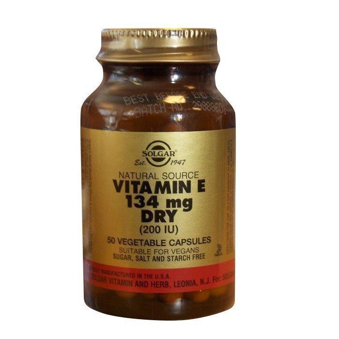 Solgar E-Vitamiini 200 IU kuiva 50 vegicaps