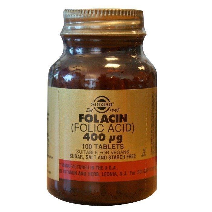 Solgar Folacin foolihappo 400 mcg 100 tablettia