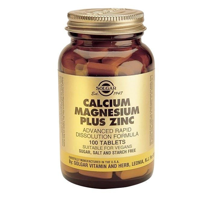 Solgar Kalsium Magnesium plus Sinkki 100 tablettia