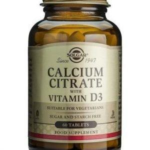 Solgar Kalsiumsitraatti + D3-Vitamiini