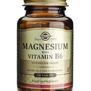 Solgar Magnesium + B6-Vitamiini