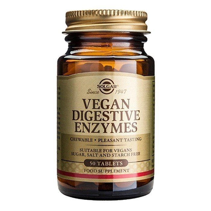 Solgar Ruoansulatusentsyymi Vegan Pureskelutabletti 50 tablettia