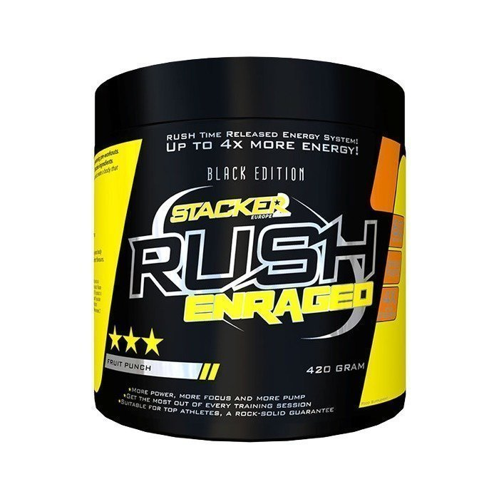 Stacker 2 Rush Enraged 30 servings Juicy Orange