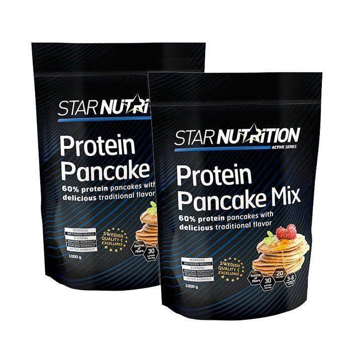 Star Nutrition 2 x Protein pancake mix 1 kg